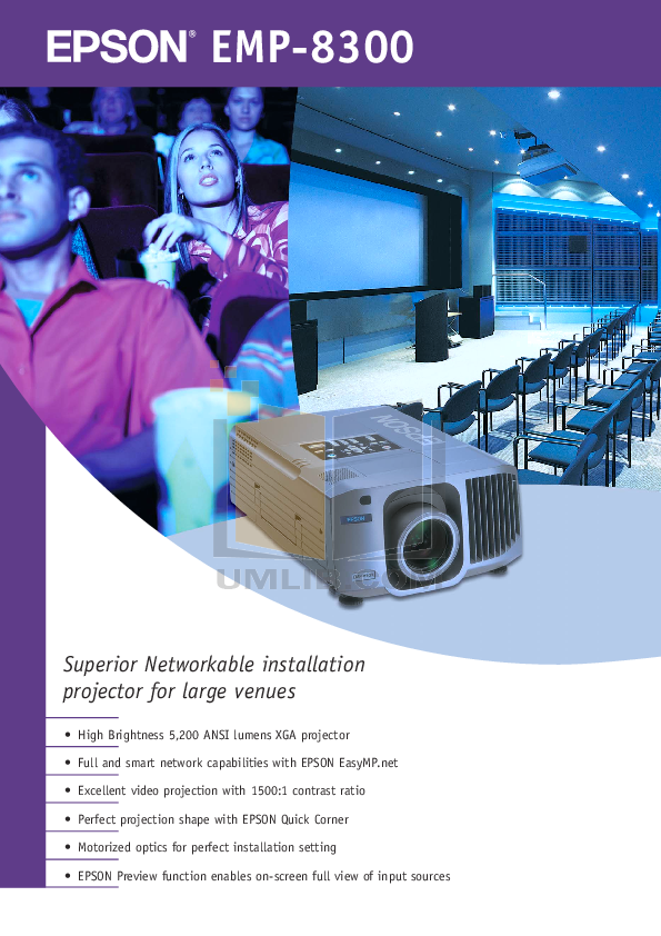pdf for Epson Projector EMP-8300 manual