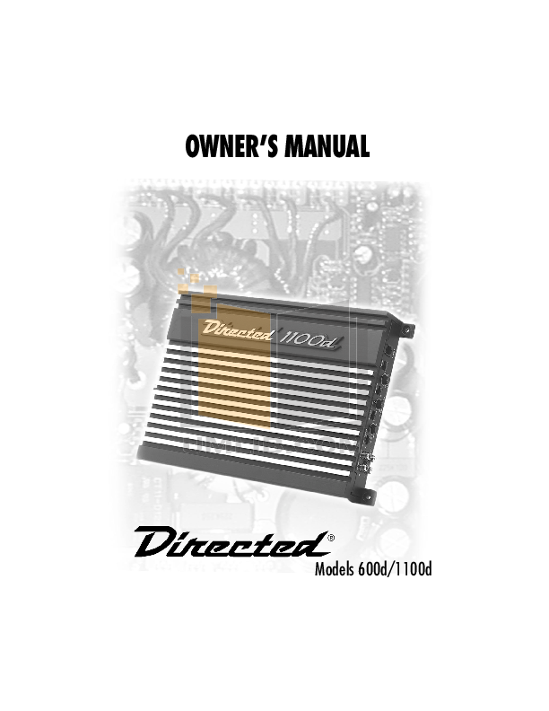 pdf for DEI Car Receiver 1100d manual