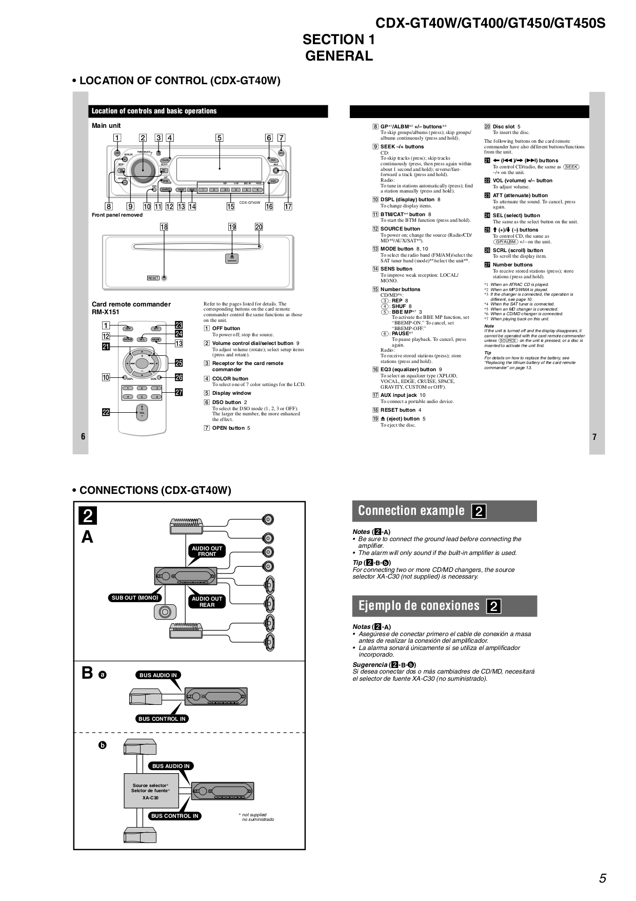 Wiring Diagram For Sony Xplod Cdx Gt300 : Pdf manual for sony car receiver cdx gt