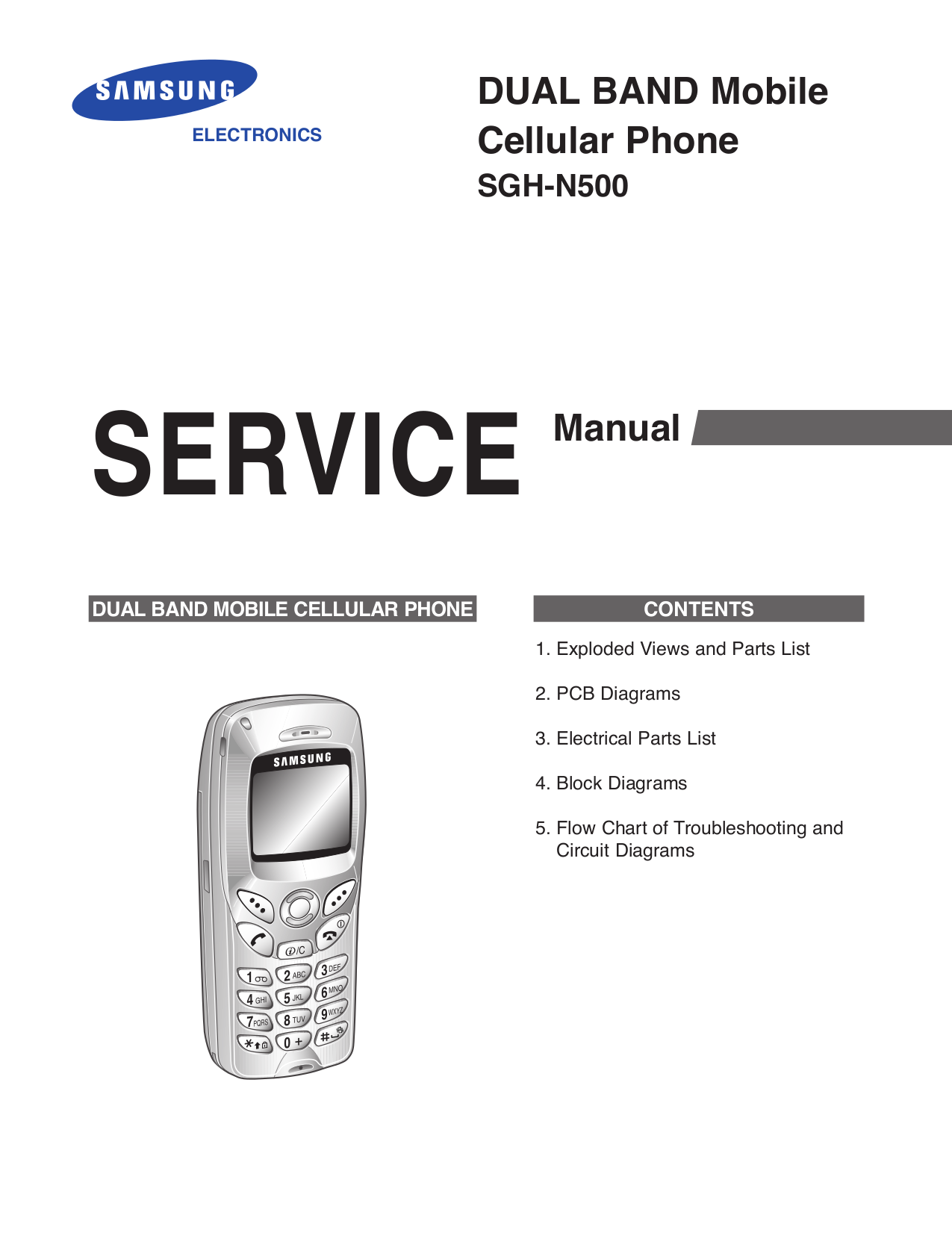 pdf for Samsung Cell Phone SCH-N500 manual