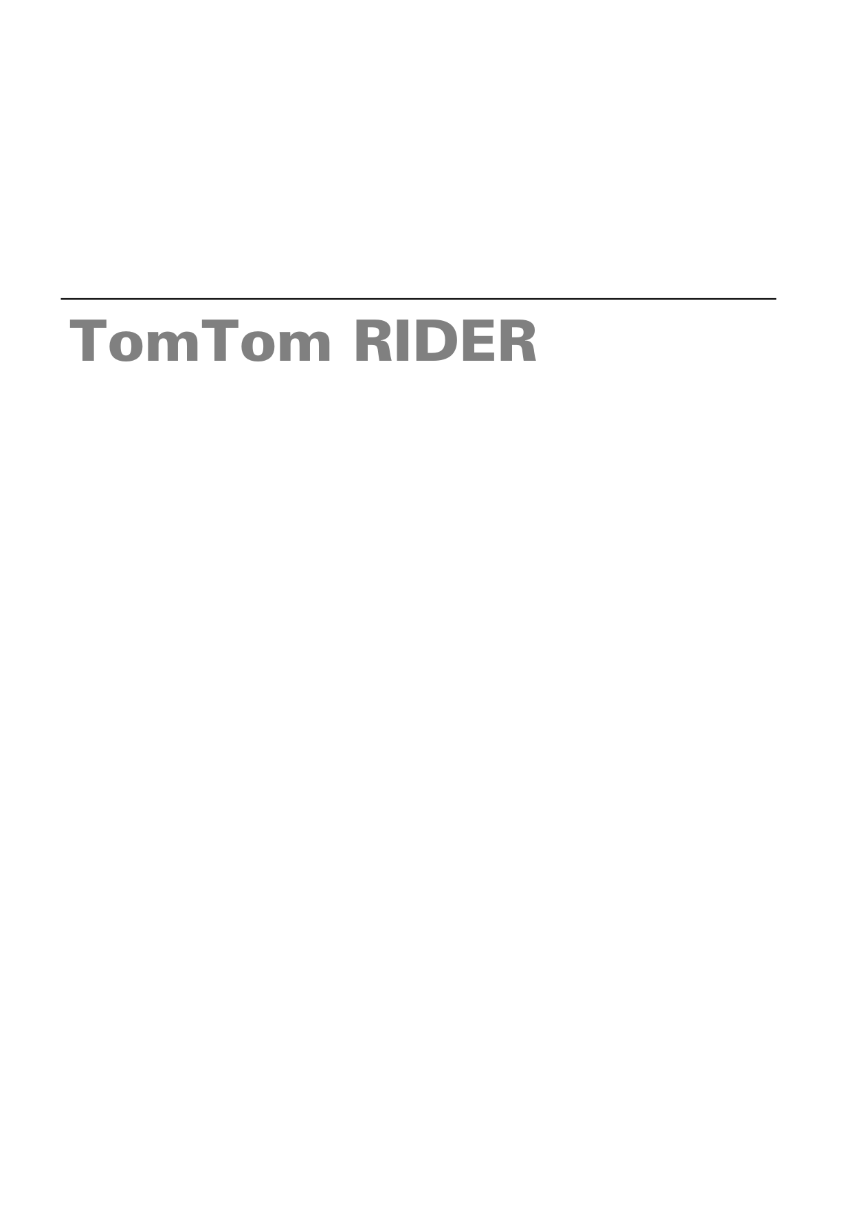 pdf for TomTom GPS Rider manual