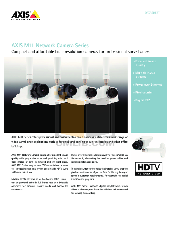 pdf for Axis Security Camera M1103 manual
