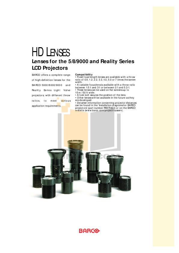 pdf for Barco Monitor HD-47 manual