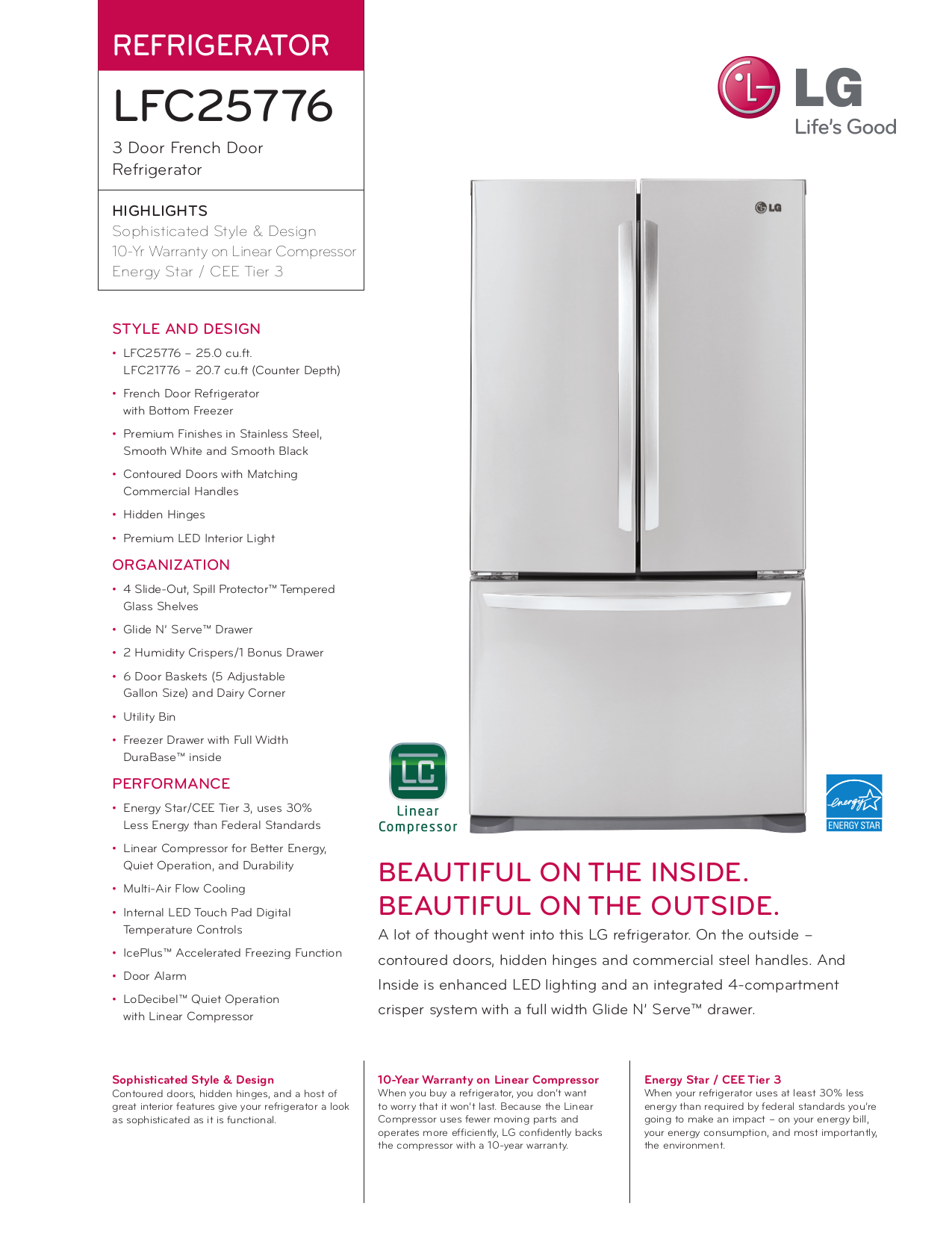 pdf for LG Refrigerator LFC25776 manual