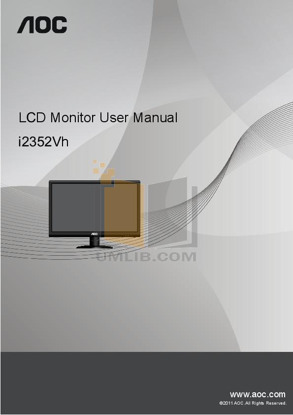 pdf for AOC Monitor LM742 manual