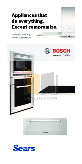 pdf for Bosch Microwave HMB8060 manual