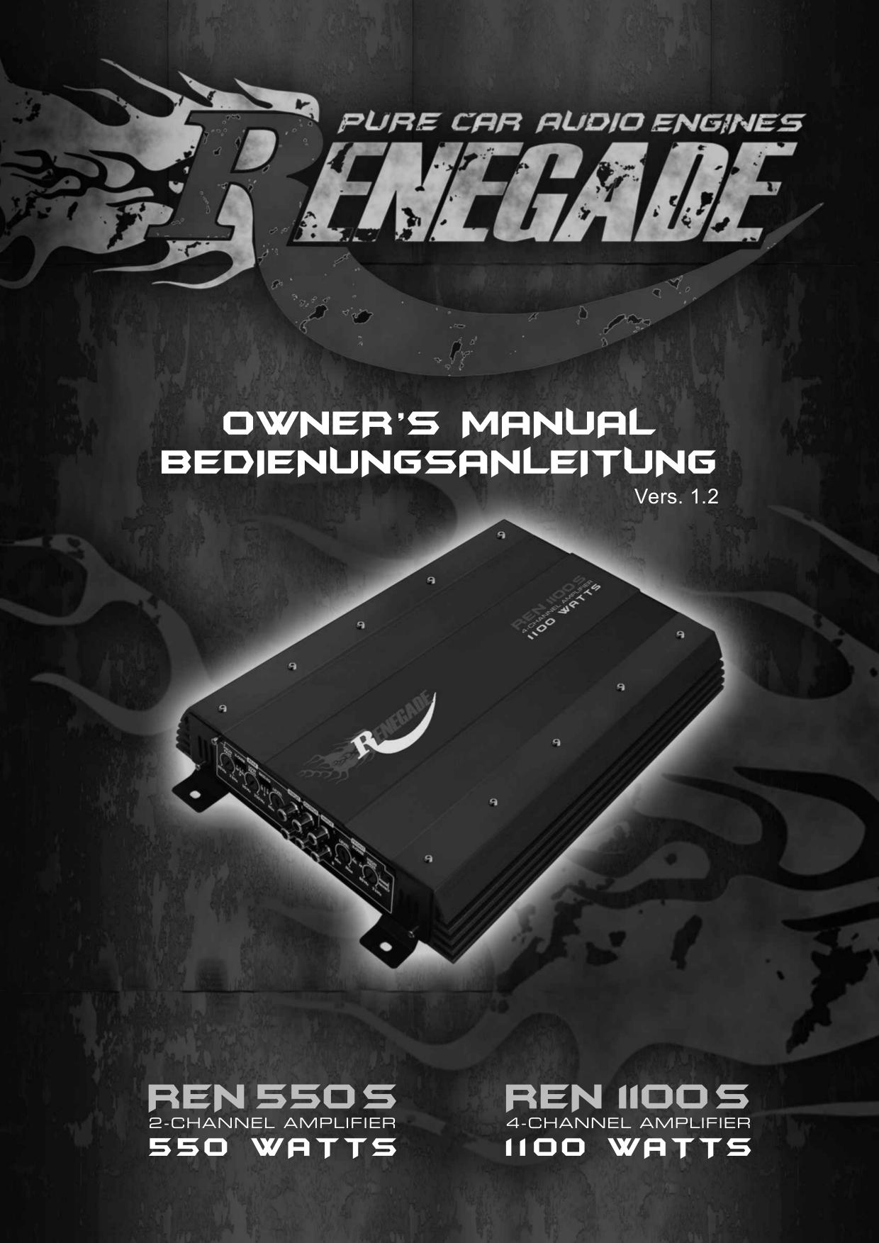 download free pdf for renegade ren 1100 s car amplifier manual rh umlib com Renegade Car Audio Renegade Amp Kit