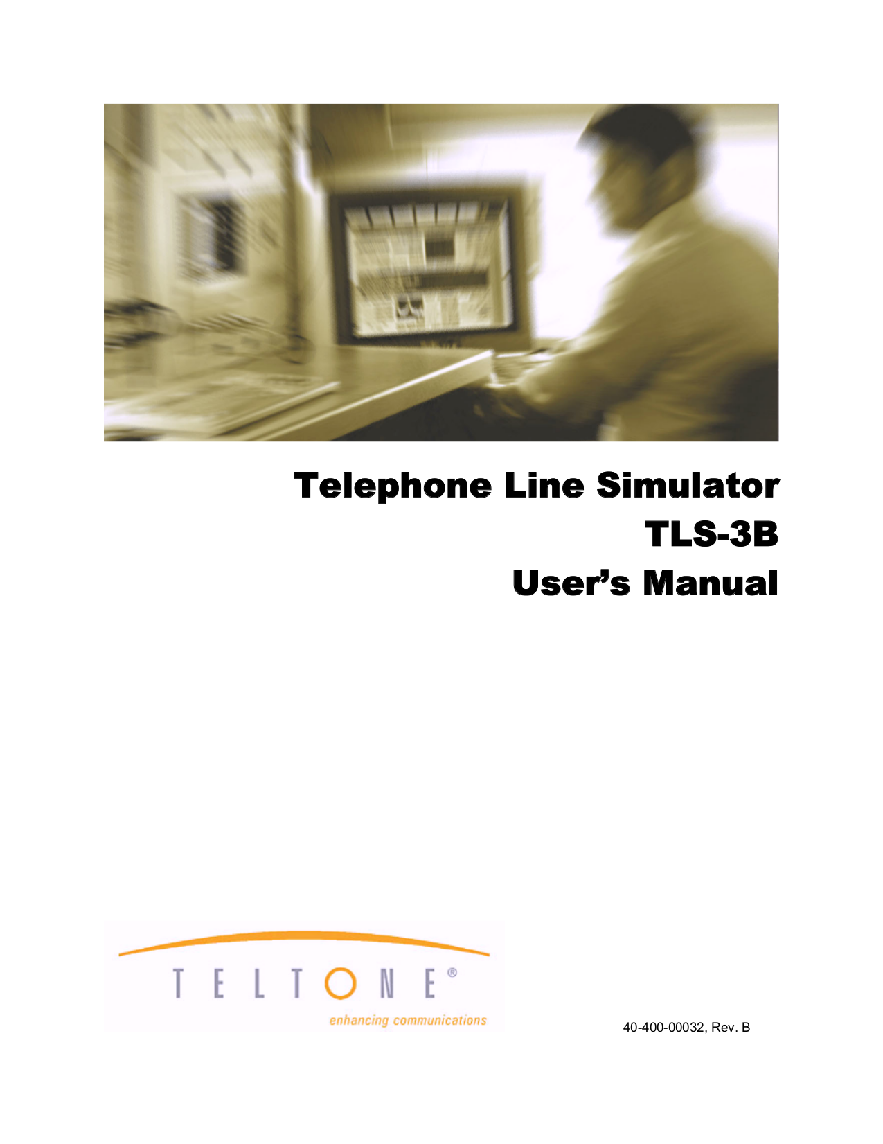 pdf for Teltone Other TLS-3B Phone Line simulators manual