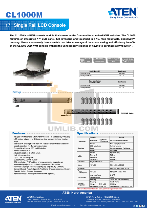 pdf for ATEN Other MasterView CS-102 CPU Switch manual