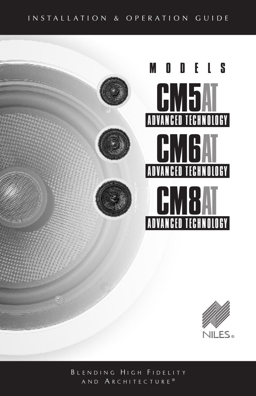 pdf for Niles Speaker CM6AT manual
