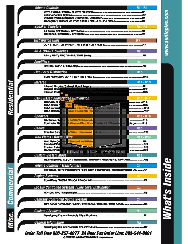 pdf for Audioplex Other MS-12 Speaker Selectors manual