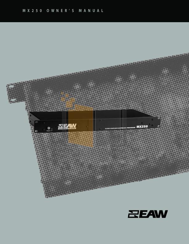 pdf for Eaw Speaker System FL103 manual
