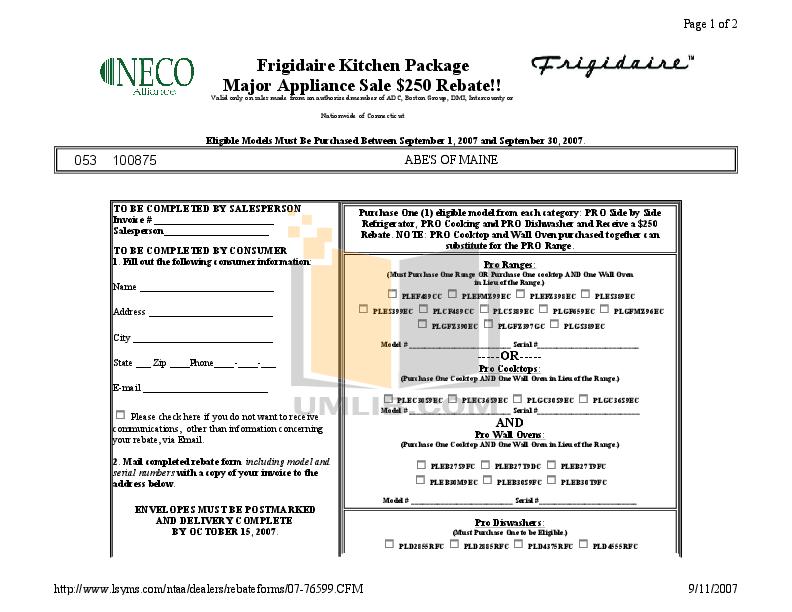 pdf for Frigidaire Refrigerator PHT219WHKM manual