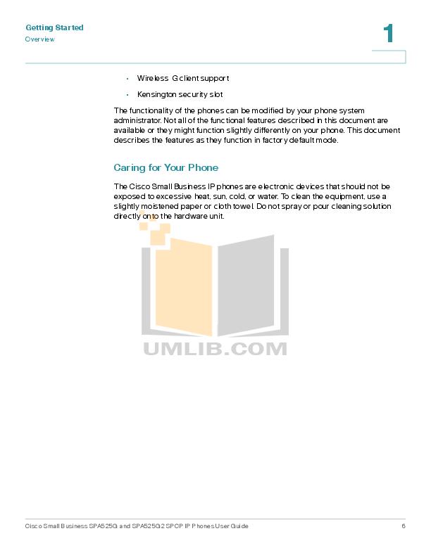 PDF manual for Cisco Telephone SPA525G2