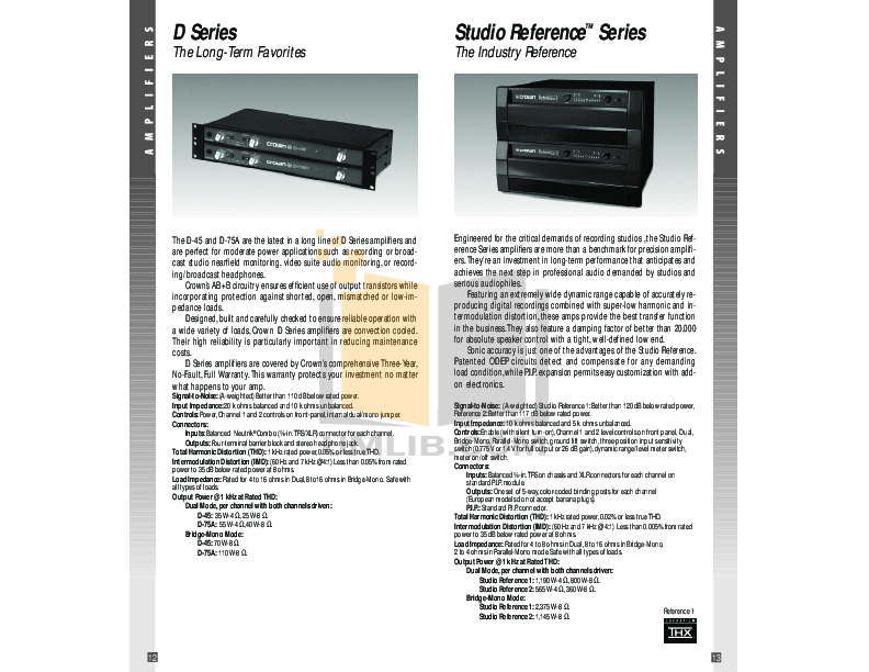 Crown Other IQ-RPT Repeaters pdf page preview