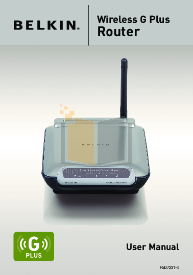pdf for Belkin Router F5D7011 manual