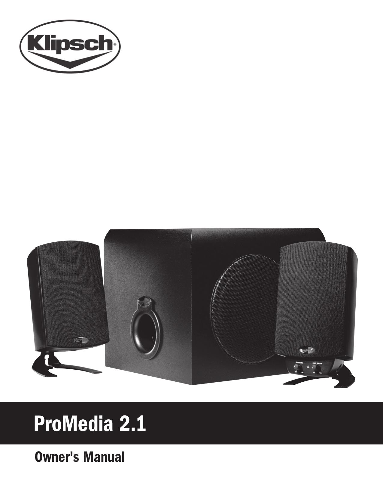 download free pdf for klipsch promedia promedia 2 1 speaker manual Klipsch ProMedia 4.1 Subwoofer Repair Klipsch Sub 10 Manual
