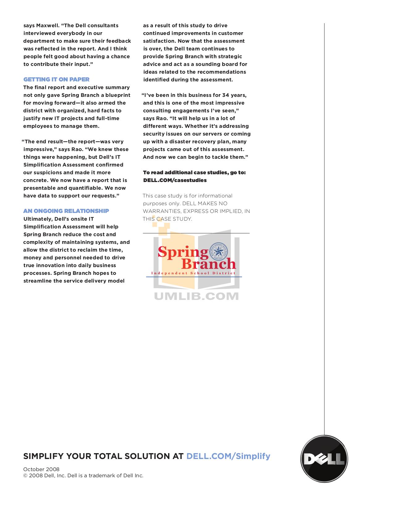 dell business plan pdf