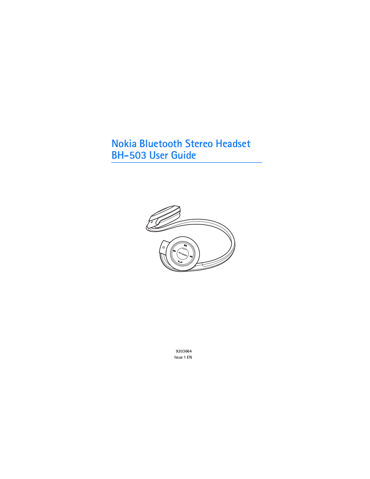 pdf for Nokia Headset BH-503 manual
