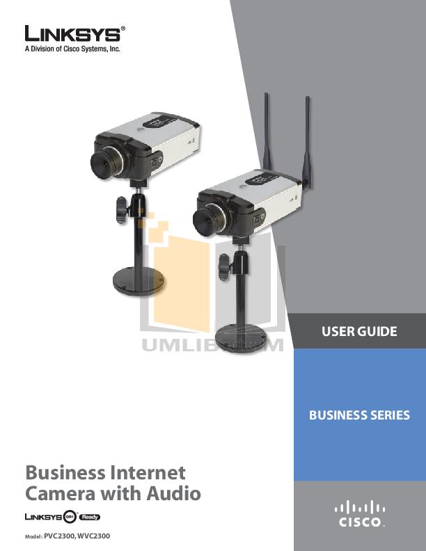pdf for Cisco Security Camera PVC2300 manual