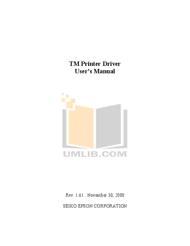 pdf for Epson Printer TM-U375 manual