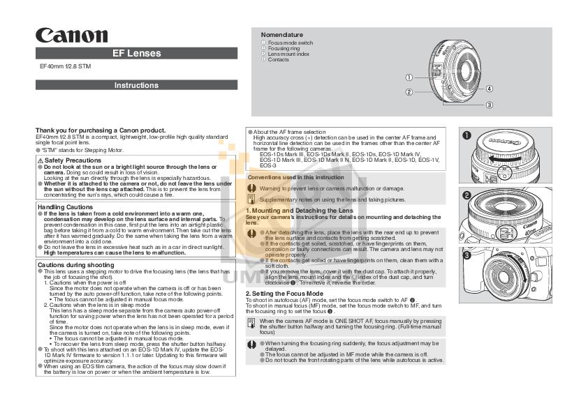 pdf for Canon Digital Camera EOS 1D Mark II N manual
