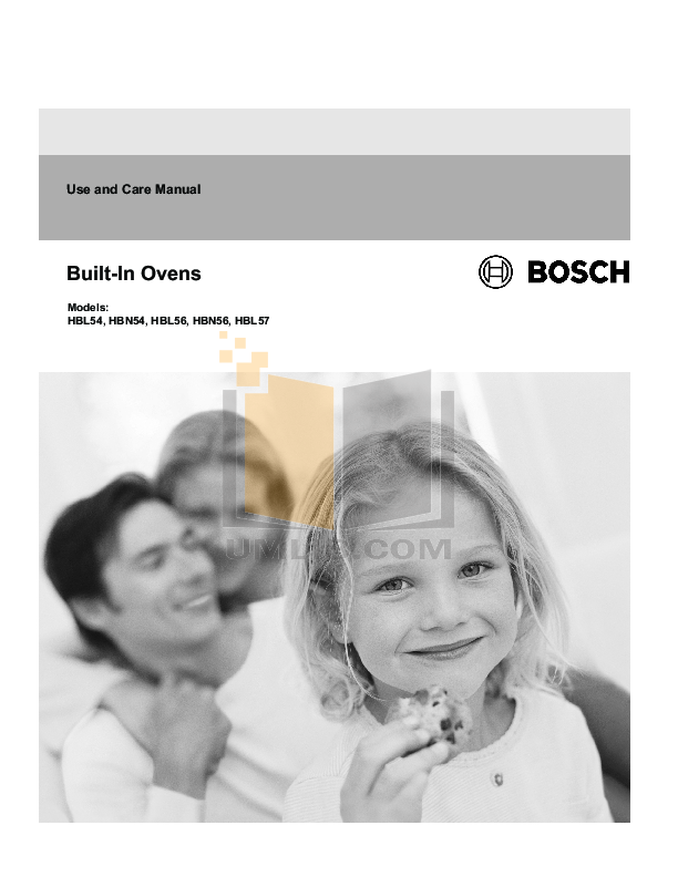pdf for Bosch Microwave HBL54 manual