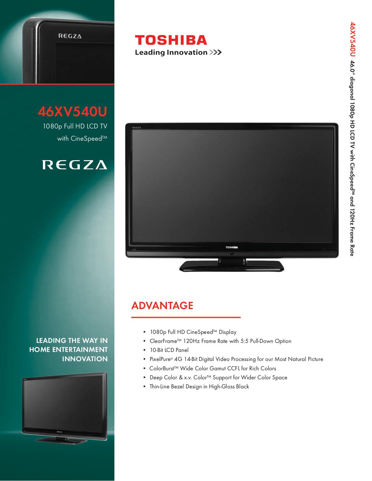 download free pdf for toshiba regza 46xv540u tv manual rh umlib com toshiba tv regza manuel toshiba regza 42x3030d tv manual
