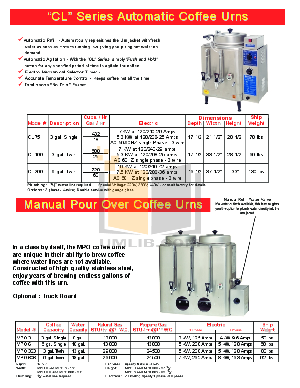 Cecilware Other GF-10 Fryers pdf page preview