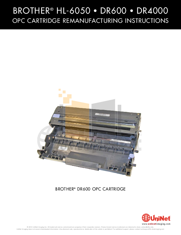 pdf for Brother Printer HL-6050D manual