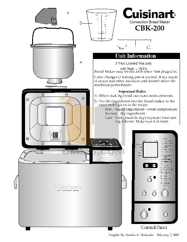 download free pdf for cuisinart cbk 200 bread maker manual rh umlib com Walmart Bread Maker cuisinart convection bread maker cbk-200 manual