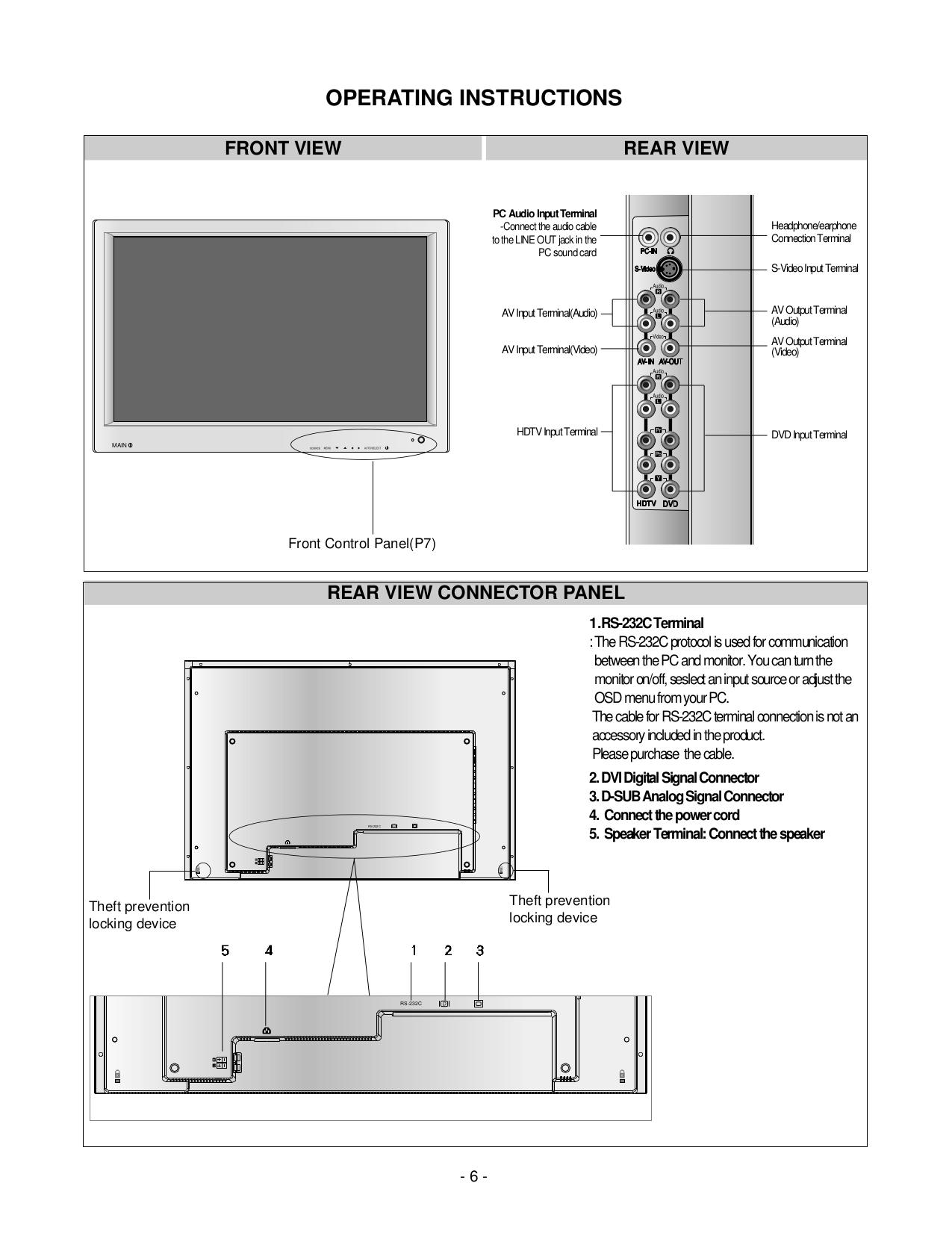 LG Monitor L3000H pdf page preview