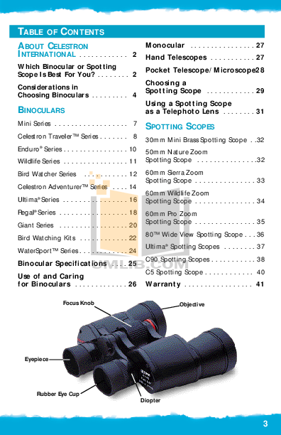 Celestron Other Ultima 80 Spotting Scope pdf page preview