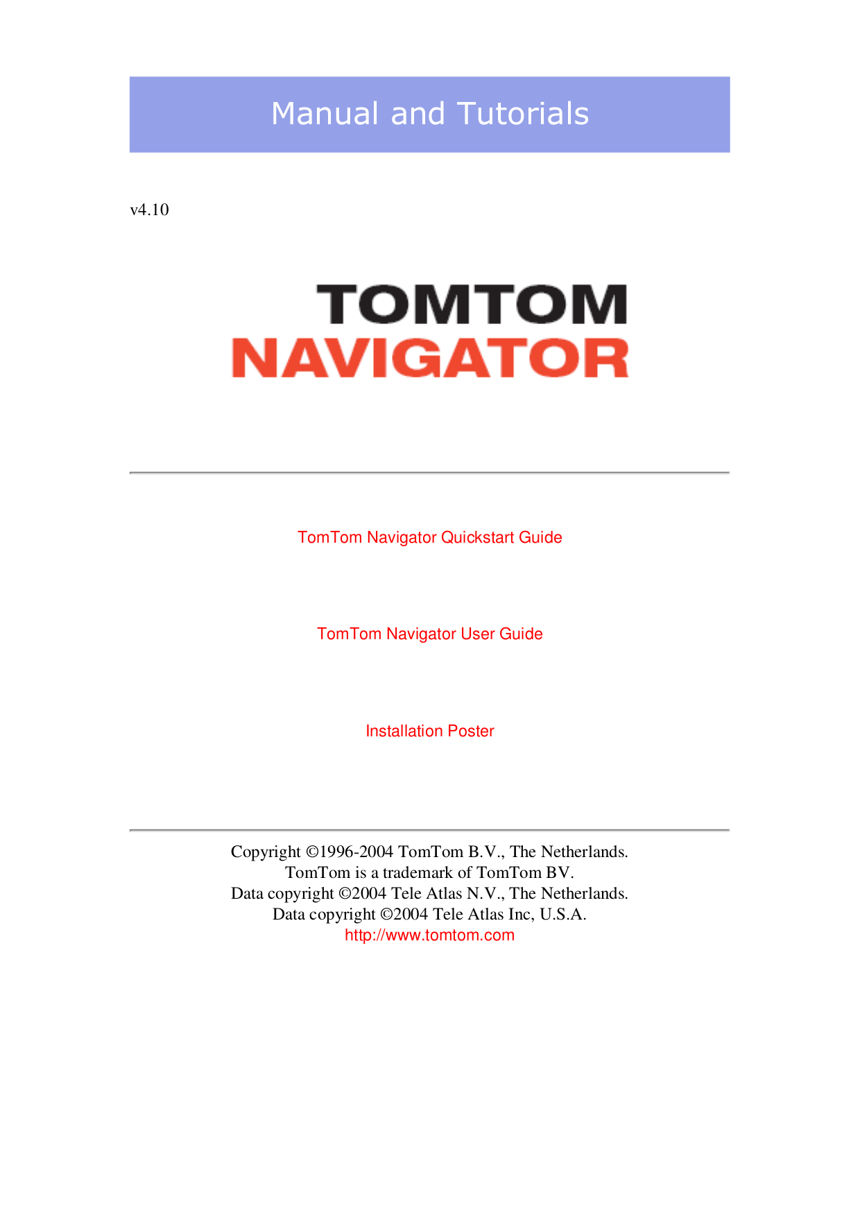 pdf for TomTom GPS One 130S manual