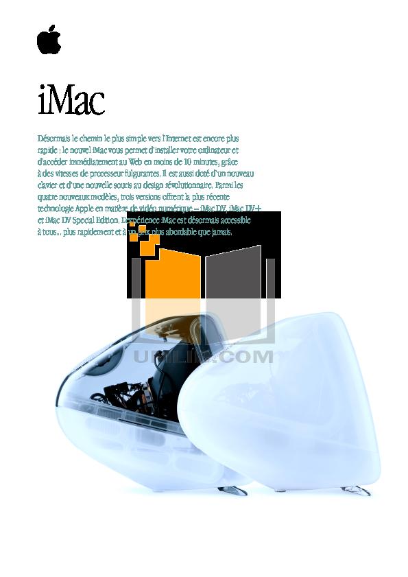 pdf for Apple Desktop iMac G3 M7706 manual