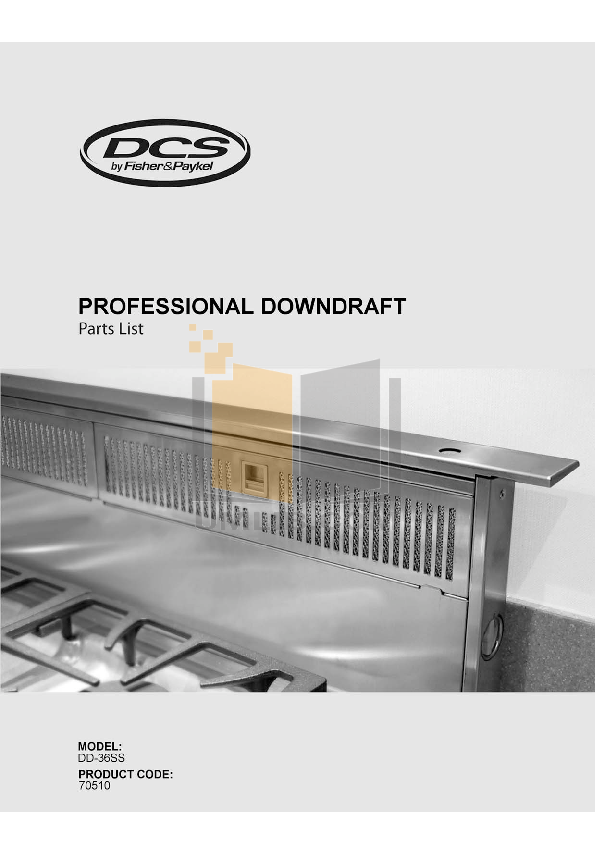 pdf for DCS Other DD-36-SS Hood manual