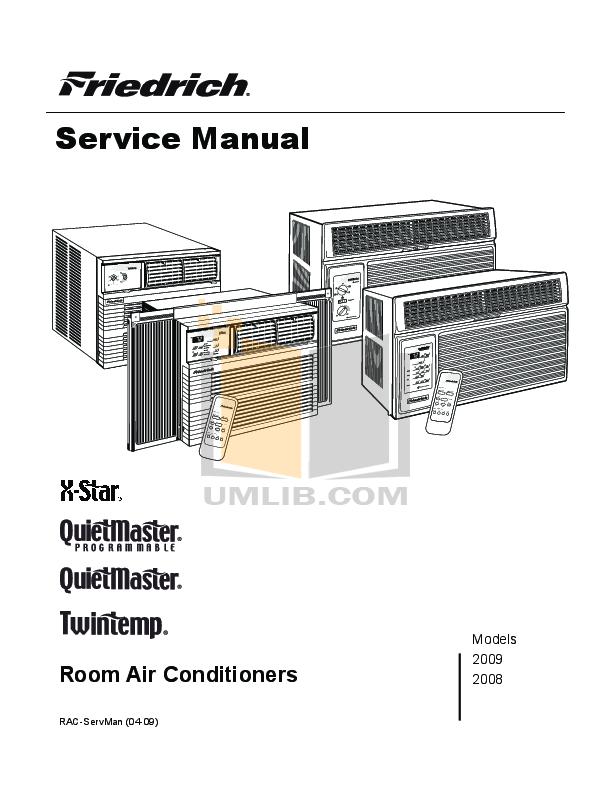 download free pdf for friedrich quietmaster ss16l30 air conditioner rh umlib com friedrich air conditioners manuals mw24c3f friedrich air conditioner manual pdf