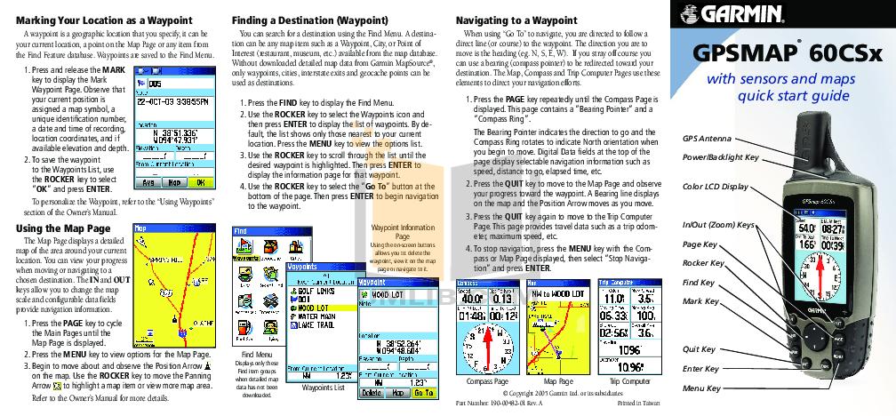 Garmin gpsmap 60cx инструкция