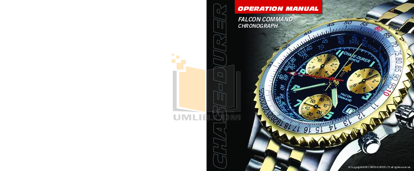 pdf for Chase-durer Watch Falcon Command manual