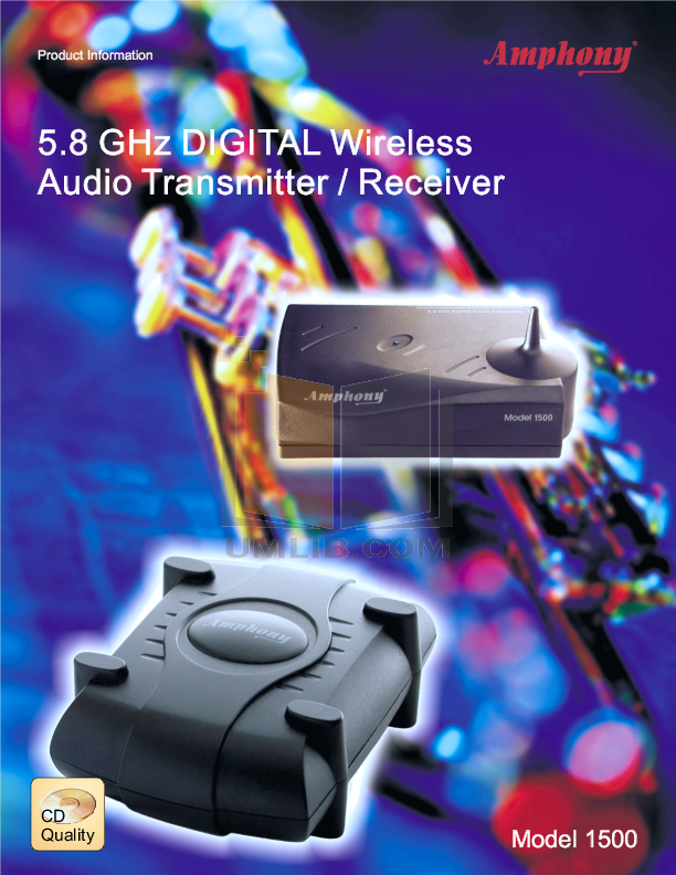pdf for Amphony Other L1520 Audio Transmitters manual