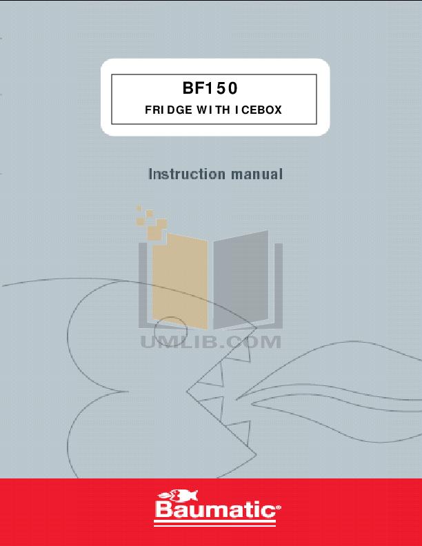 pdf for Baumatic Freezer BF150 manual