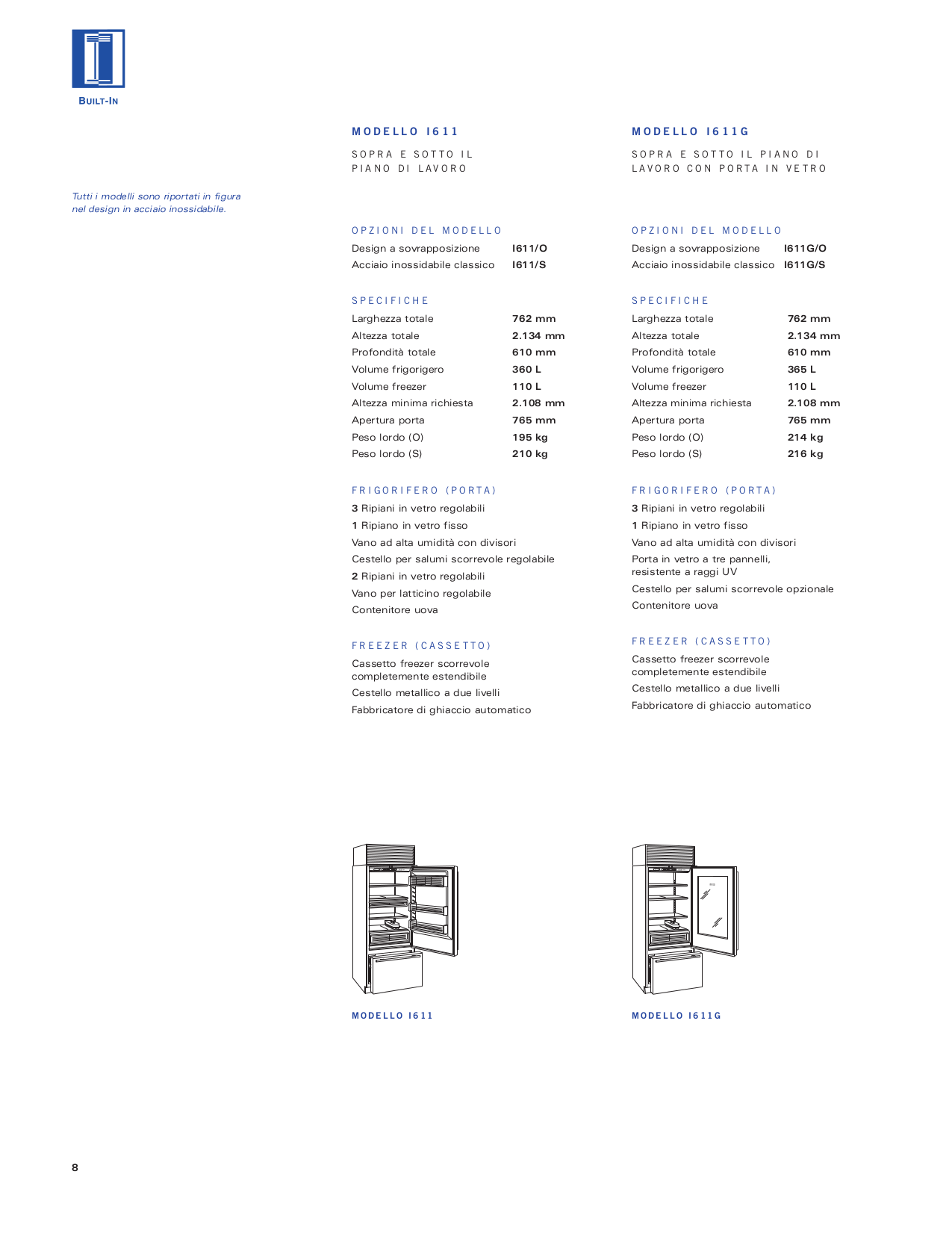 Wolf Freezer Sub-Zero I601F pdf page preview
