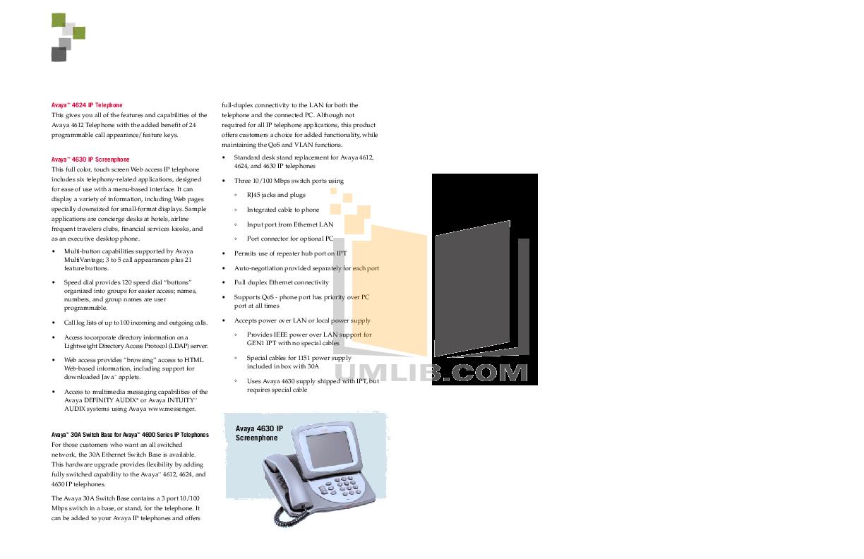 ... Avaya Telephone Definity 6402 pdf page preview ...