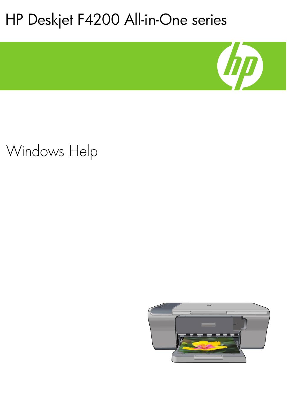 pdf for HP Multifunction Printer Deskjet F4224 manual