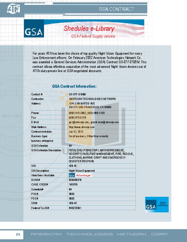 Atn Binocular NVB5X-CGT pdf page preview