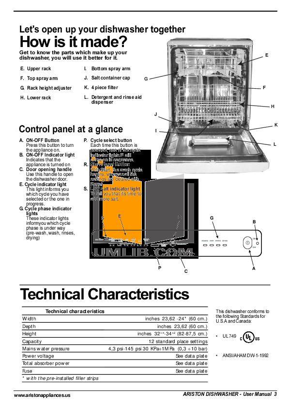 pdf manual for ariston dishwasher ll 64 s na rh umlib com ariston dishwasher l64 troubleshooting ariston dishwasher l64 troubleshooting