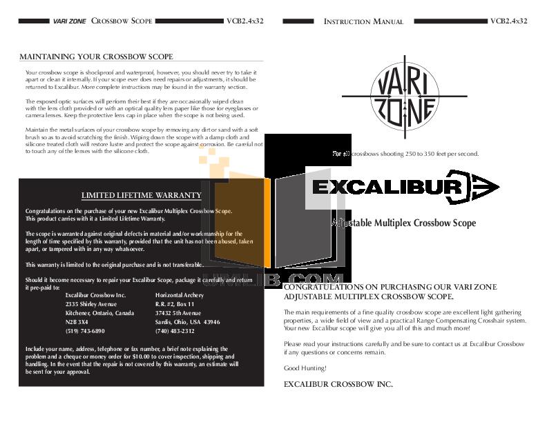 pdf for Excalibur Game Console 370E manual