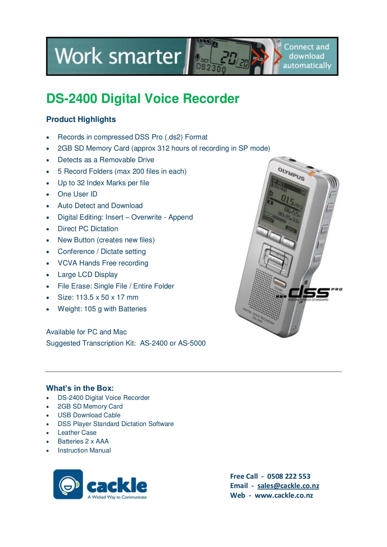 download free pdf for olympus ds 2400 voice recorder manual rh umlib com