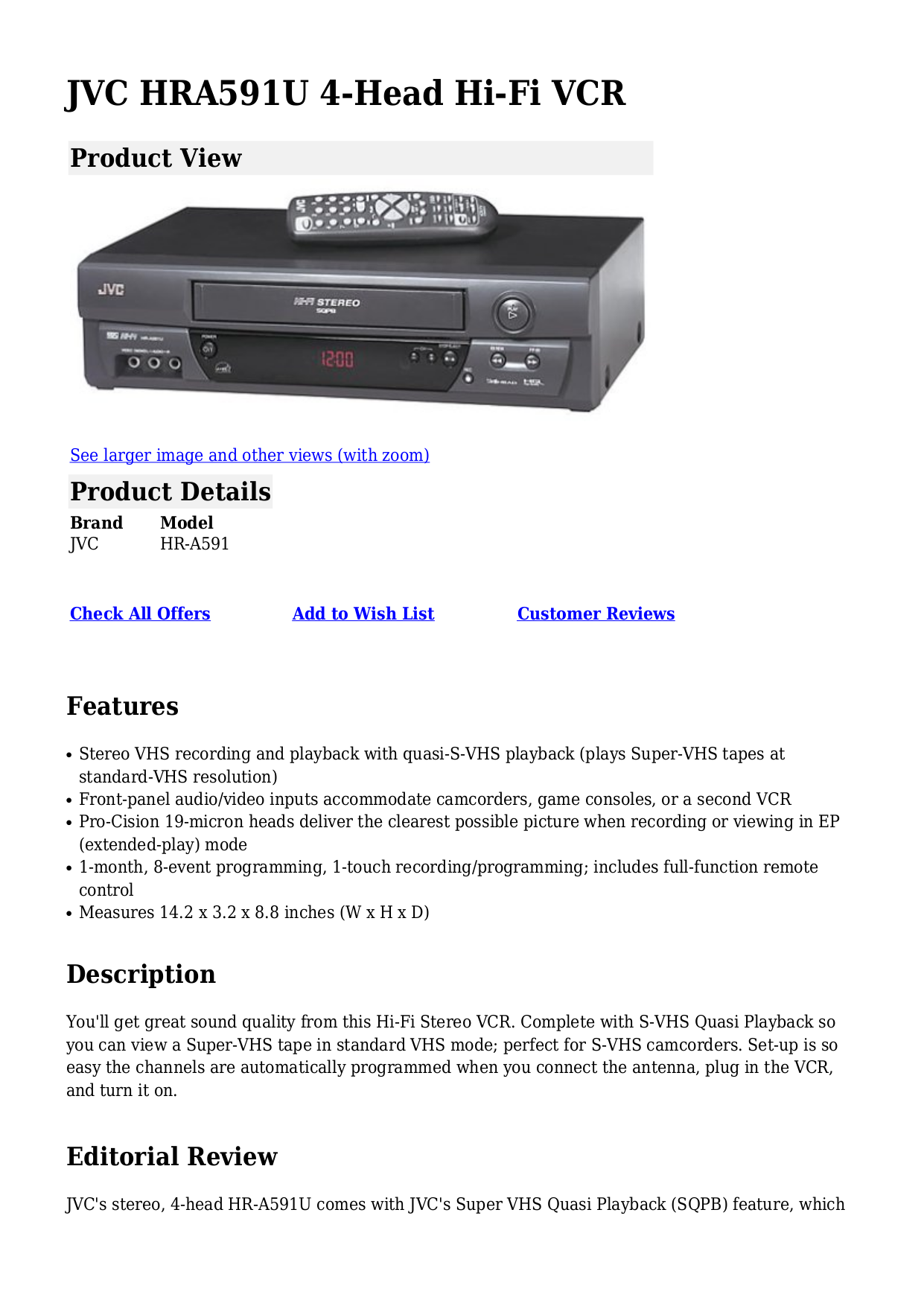 download free pdf for jvc hr a591u vcr manual rh umlib com jvc video recorder manual JVC DVD Recorder with HD