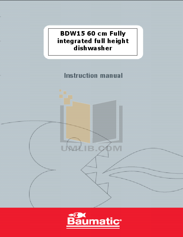 pdf for Baumatic Dishwasher BDW15 manual